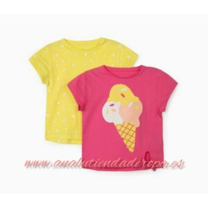 2 camisetas para niña helado Zippy