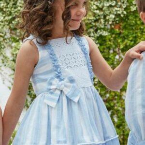 vestido rayas y bordados miranda
