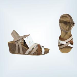 Sandalia piel cuña corcho PITILLOS