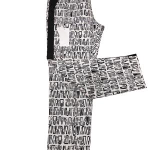Pantalón negro blanco