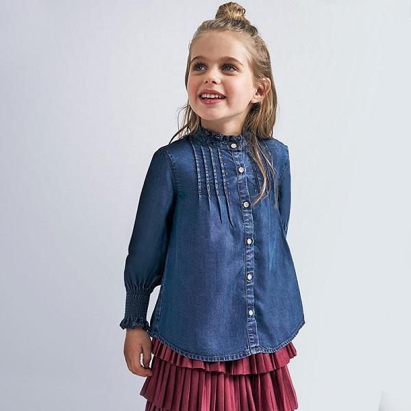 Camisa niña tejana Mayoral