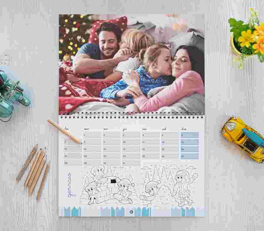 Calendario Scrivibile Color Baby_01 - PhotoSì