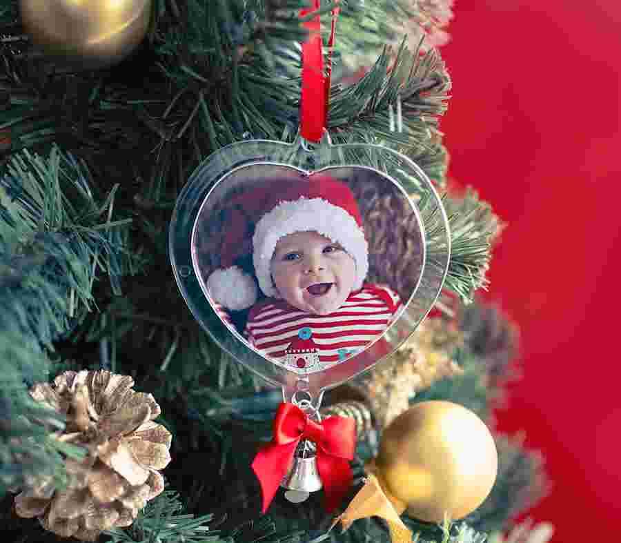 Palla Di Natale Cuore_01 - PhotoSì