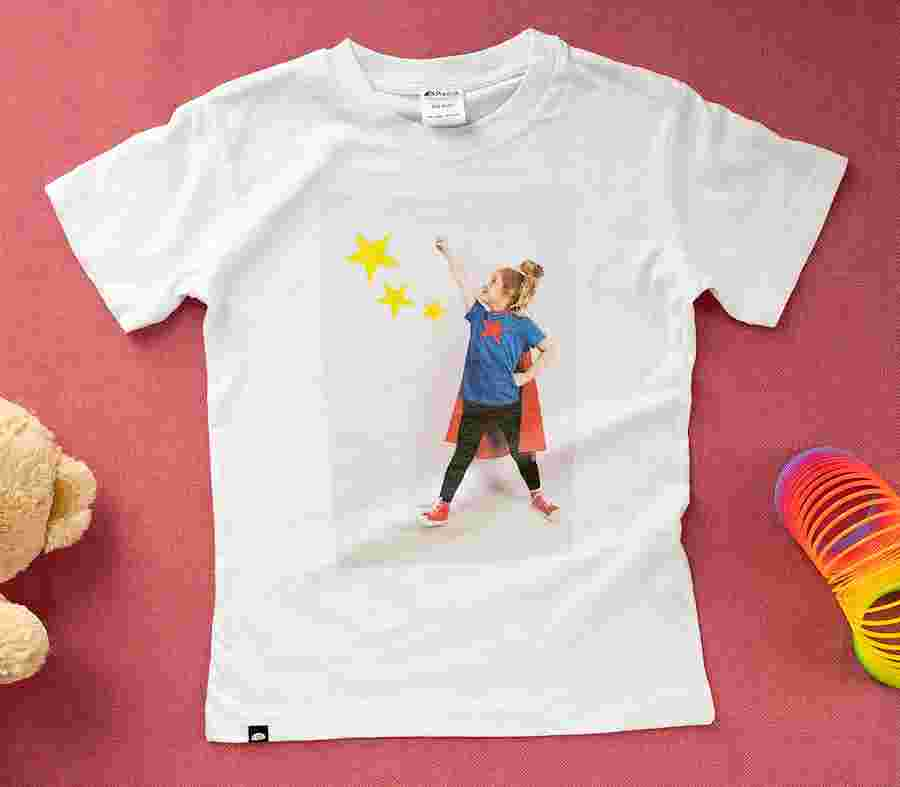 T Shirt Cotton Slub Bambino_01 - PhotoSì