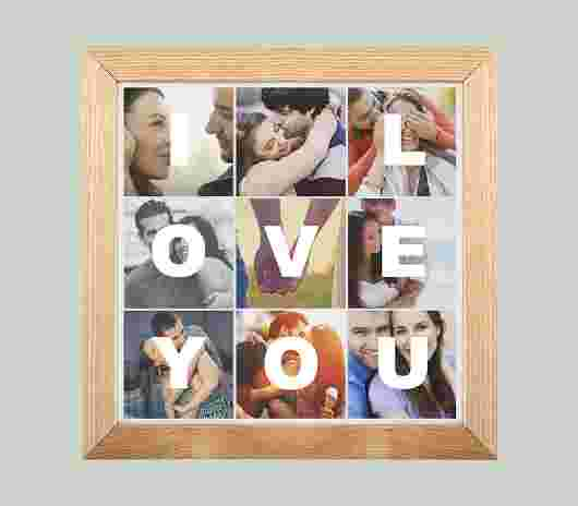 Quadro Frame Matte I Love You - PhotoSì