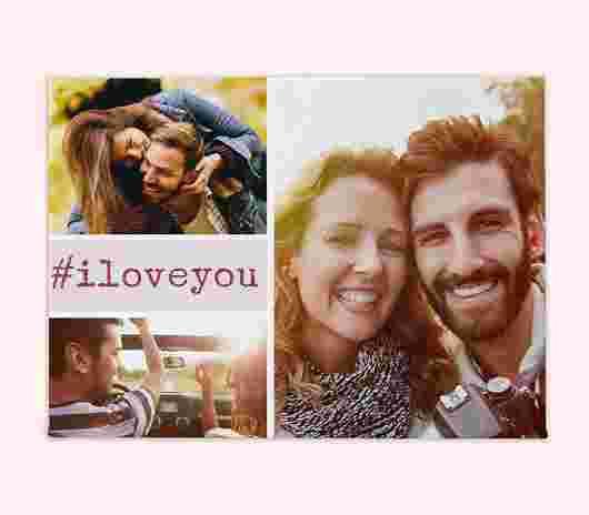 Stampa Su Tela 40X30 #Iloveyou - PhotoSì