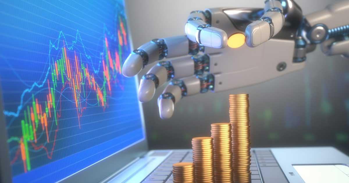 ロボットとコインタワー