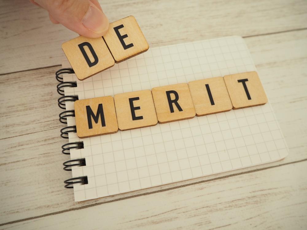 demeritの積み木とノート