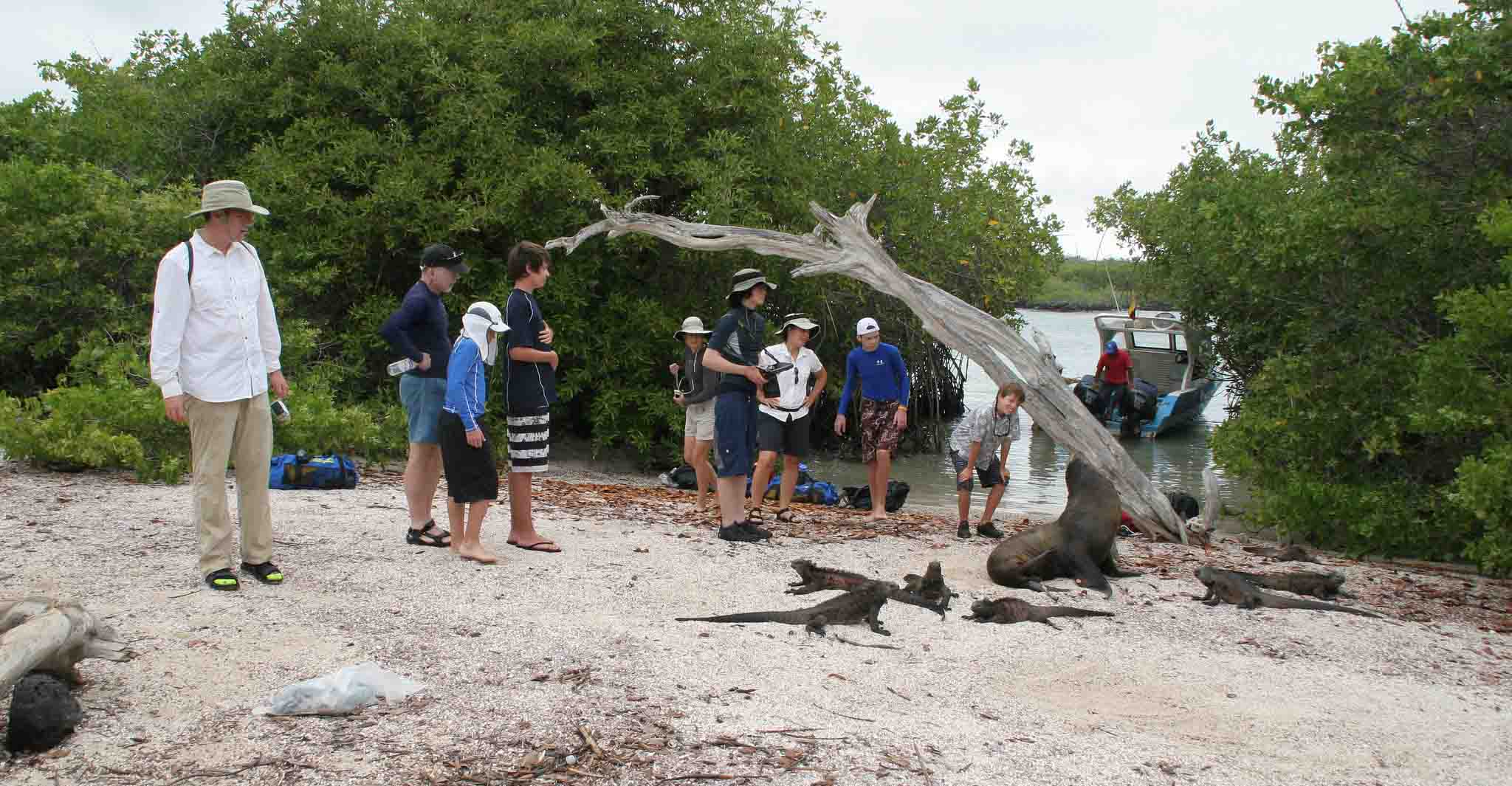 Students From Penn State Teach Galapagos Teenagers Diving Techniques for A Science Project to help The Local Community