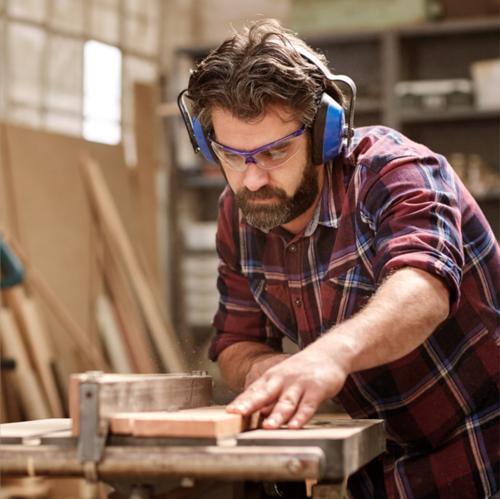 Man Cutting Board