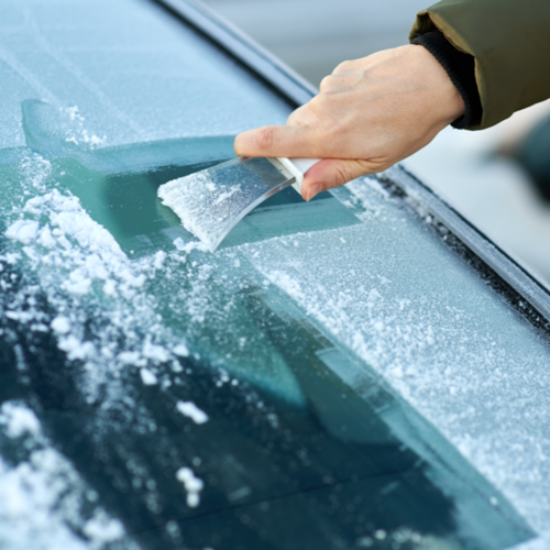 Scraping Windshield