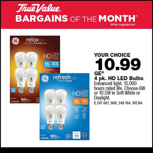 GE LED Bulbs Zones TUZ