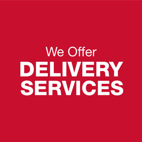 We Offer Delivery Services