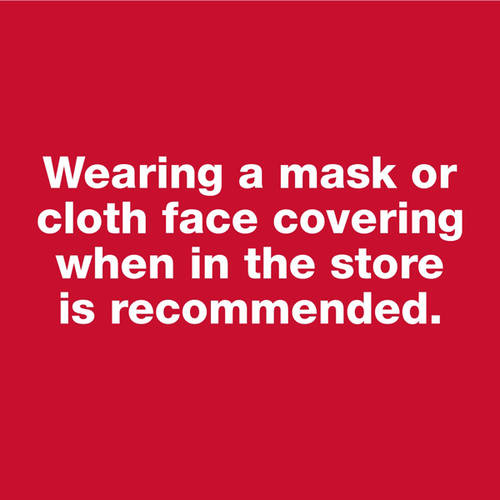 Wearing a Mask is Recommended