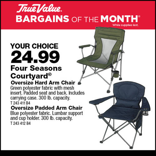 Oversize Folding Arm Chair