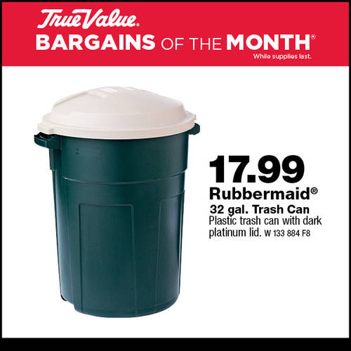 Rubbermaid 32 Gal Trash Can