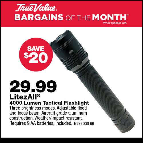 4000 Lumen Tactical Flashlight
