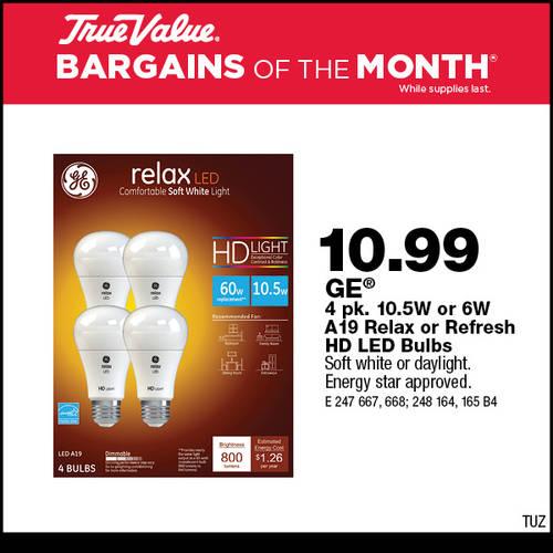 GE LED Bulbs - TUZ