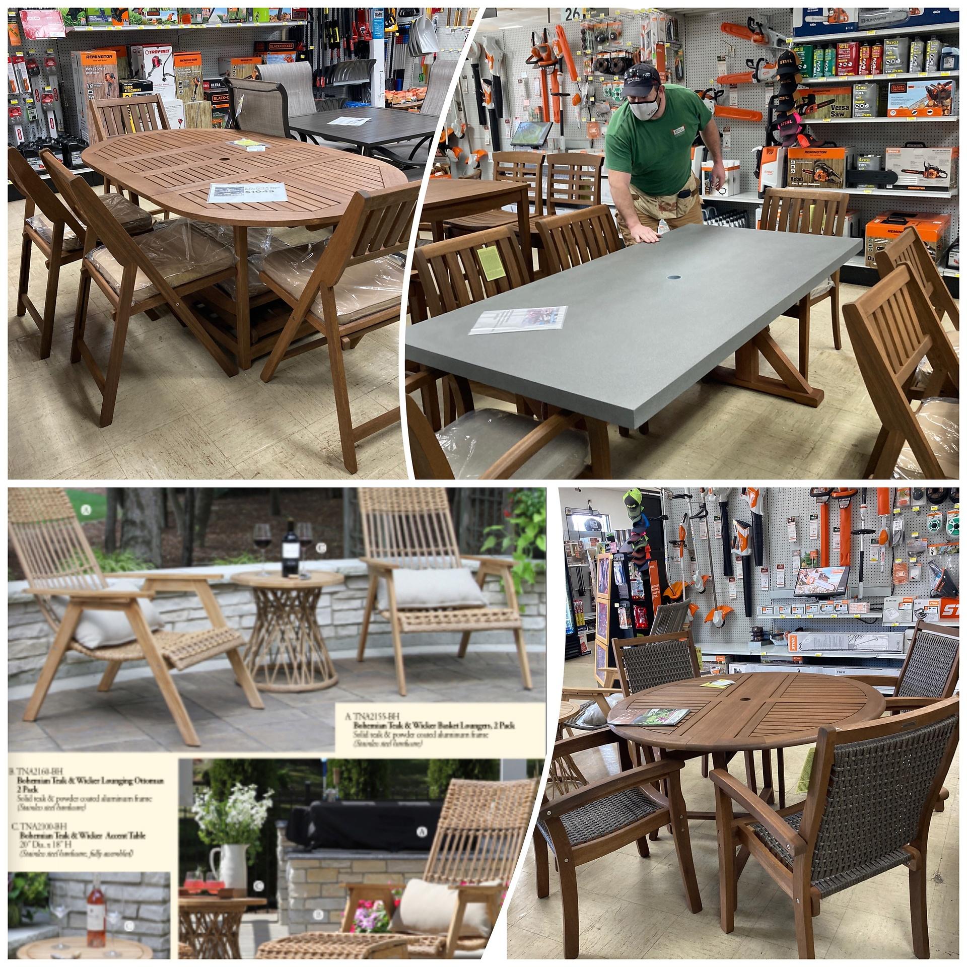 Patio Furniture in Yard