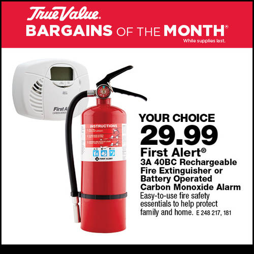 First Alert Fire Extinguisher or CO2 Alarm