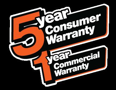 5yearconsumer1yearcommercialwarranty