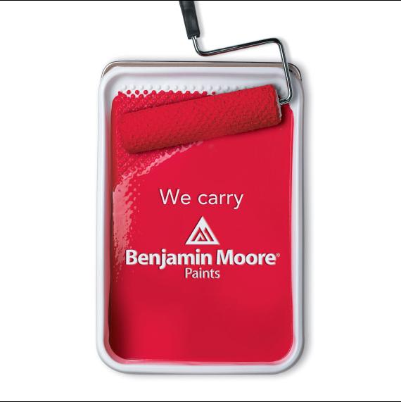 We carry Benjamin Moore paints