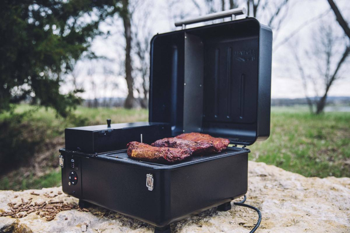 We have the Treager Scout smoker in store, and the larger smokers can be ordered. We also carry the Treager pellets for an add on to a gift.