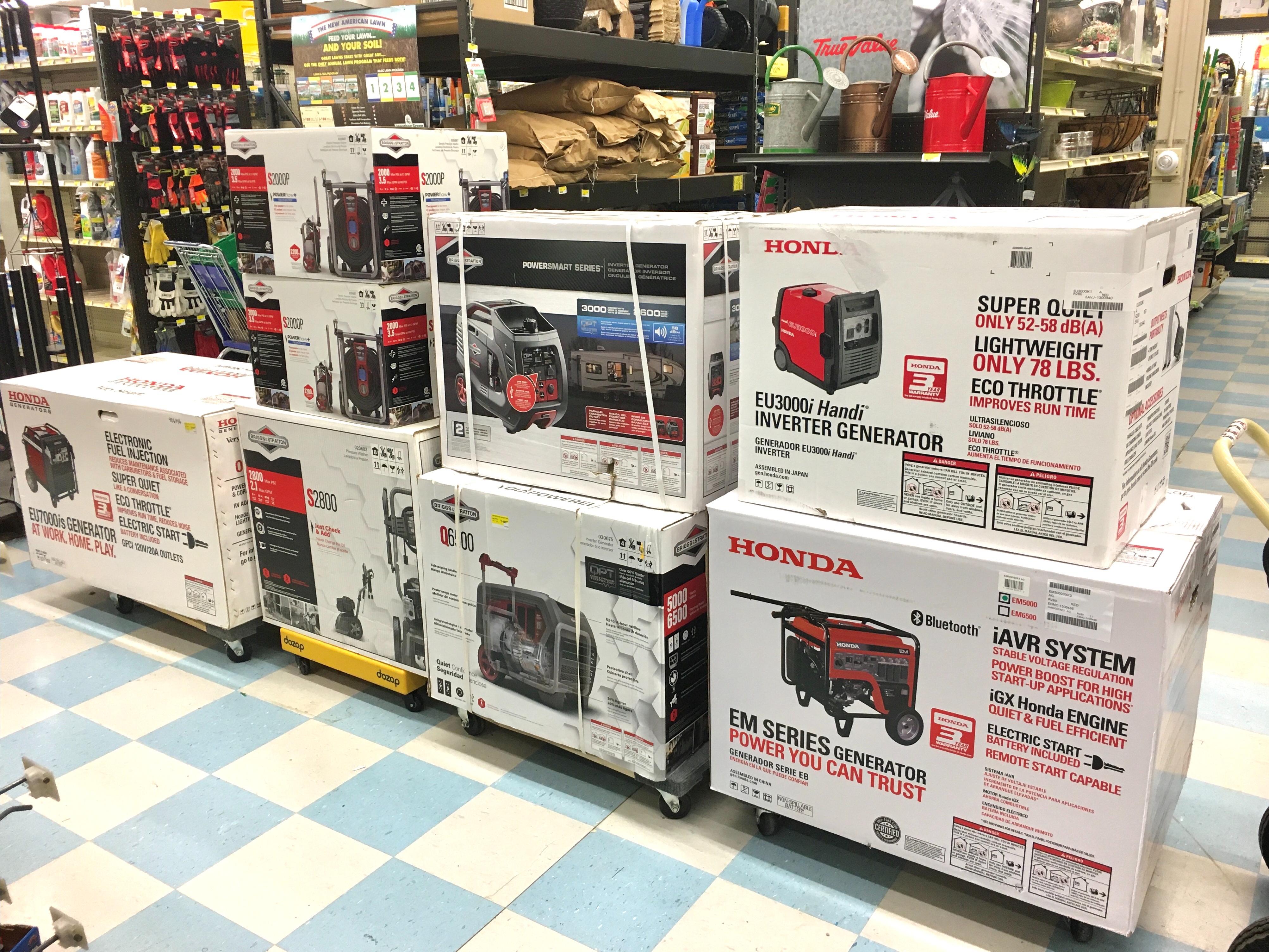 Large selection of HONDA and Briggs Generators