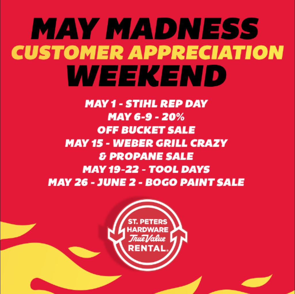 May Madness Customer Appreciation