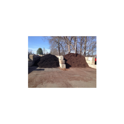 Black and Brown Mulch by the Yard.  Local delivery available.