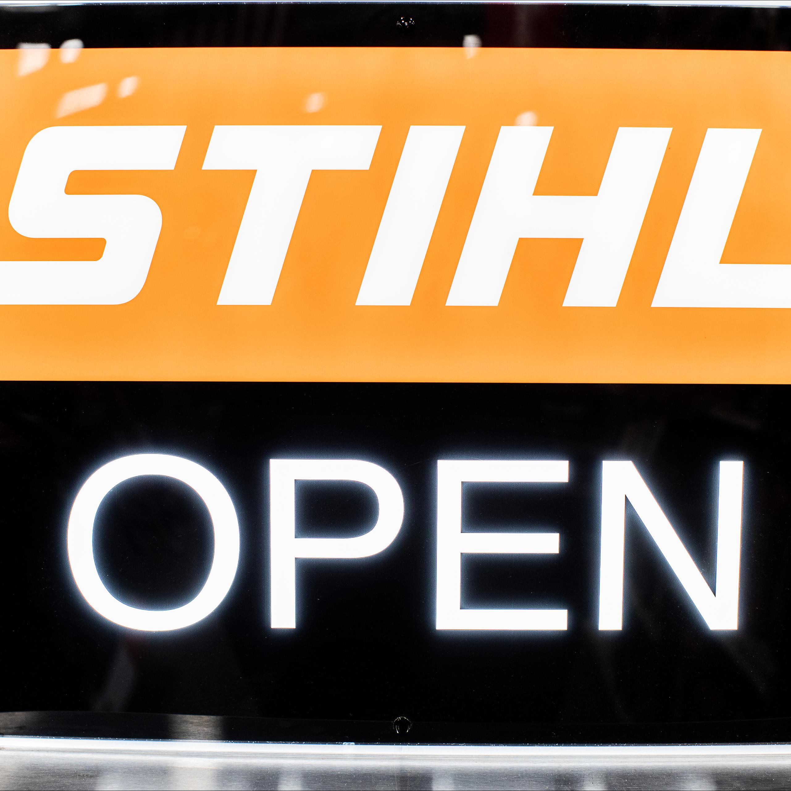 Stihl open sign