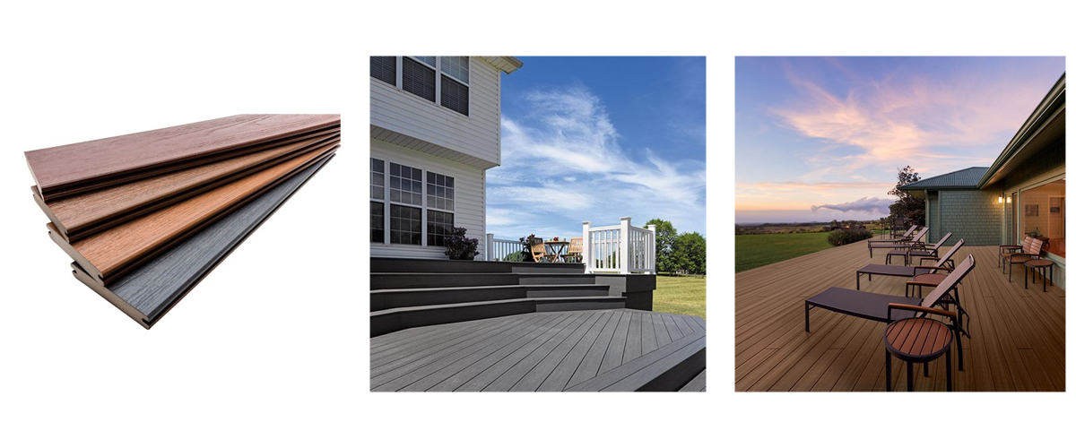 TimberTech Tropical Collection - available in Caribbean Redwood, Antique Palm, Antigua Gold, and Amazon Mist