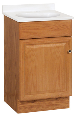 Richmond Bathroom Vanity Combo Oak Finish With White Cultured Marble Top 19 X 17 X 35 25 In Near Me Coopers True Value