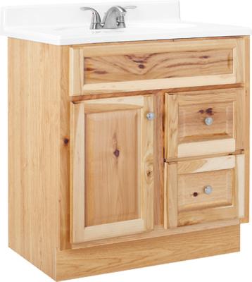 Hamilton Bathroom Vanity Hickory Finish 30 X 21 X 33 5 In Near Me Coopers True Value
