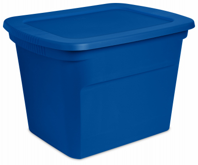 storage tote, blue morpho, 18-gallons