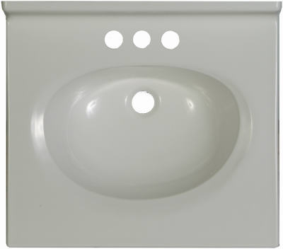 Bathroom Vanity Top White White Cultured Marble 17 X 19 In Coopers True Value