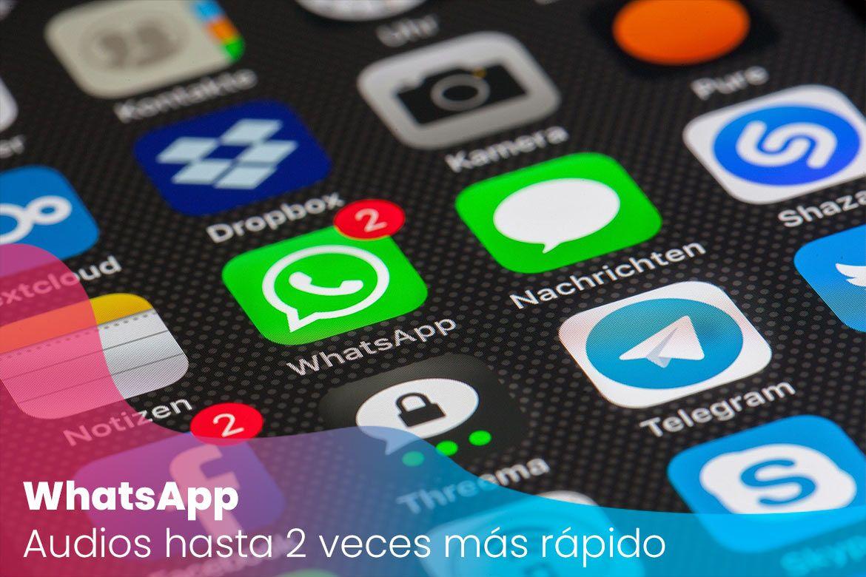WhatsApp: Los audios se escucharán hasta dos veces más rápido
