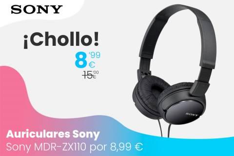 Oferta auriculares Sony MDR-ZX110 por 8,99 euros