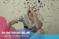 ¿Cuál es la diferencia entre sd, hd, full hd, 4K, 8K?