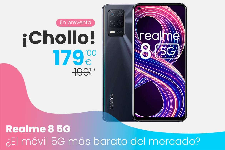 Oferta Realme 8 5G en pre-venta con descuento