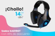 Oferta Sades SA819GT: Unos auriculares gamer por menos de 15 €