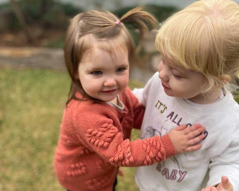 Children engage and play together. Playdates with other children of a similar age can help a shy child.