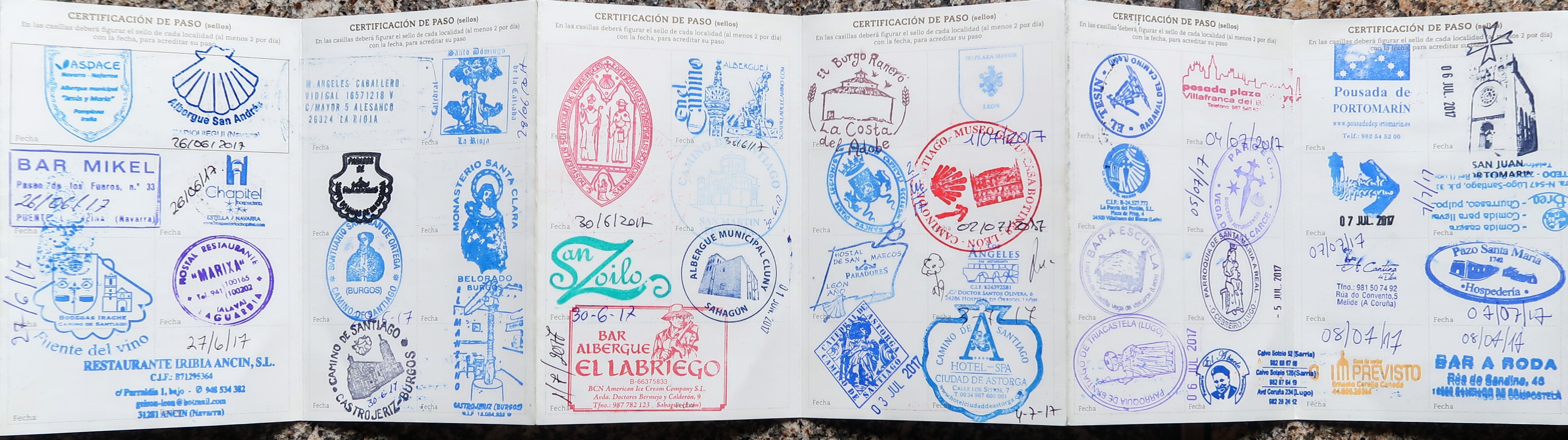 Bike Touring Story - First time cycling in Spain - camino credential