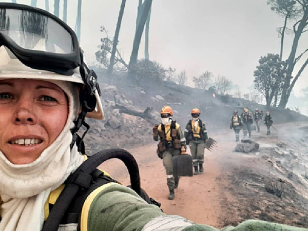 News firefighters on Table Mountain Juliet Crew