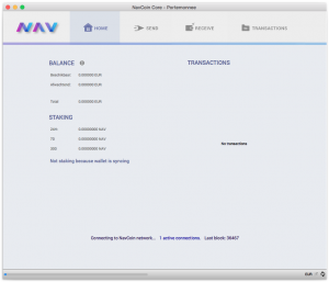 NAVCoin Core wallet (Mac OSX)