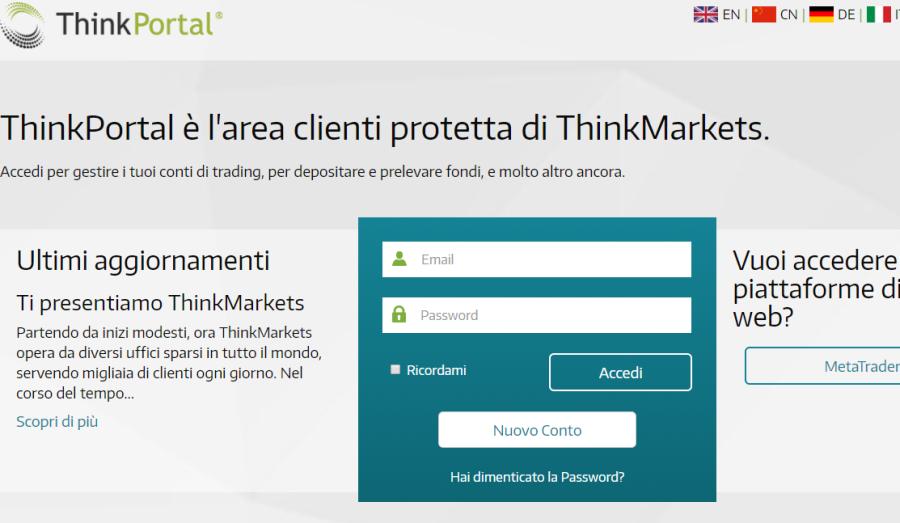Accedi thinkportal