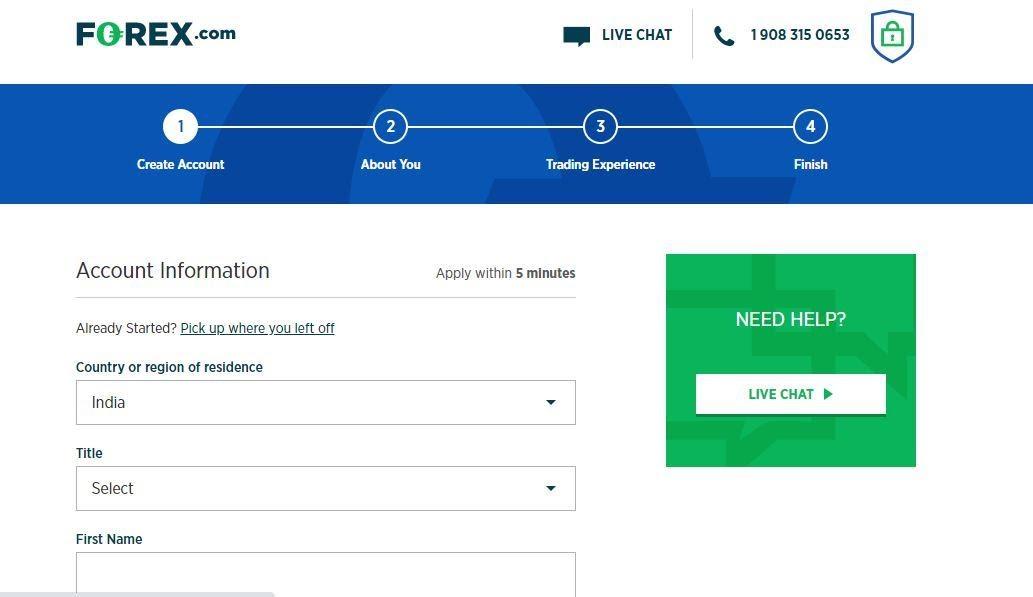 Eröffnen Sie ein Handelskonto bei Forex.com