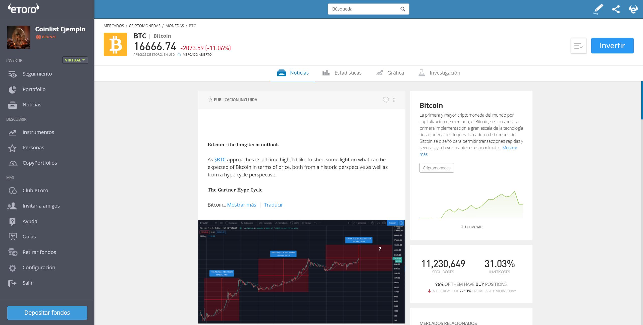 Plataforma de trading de eToro