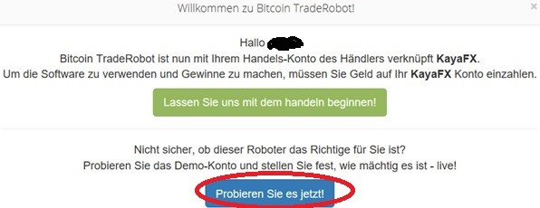 Demokonto Bitcoin TradeRobot