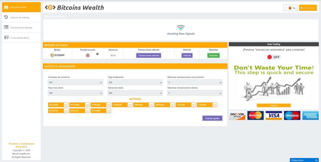 Bitcoin Wealth dashboard
